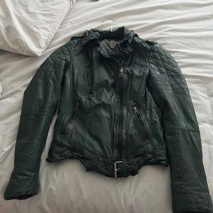 Muubaa leather biker jacket.